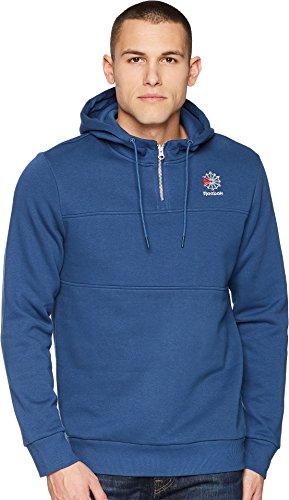 Reebok Men's SMU 1/4 Zip Crew Sweatshirt Blue X-Large