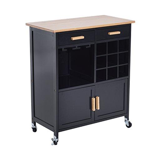 microwave cart wine rack - 5