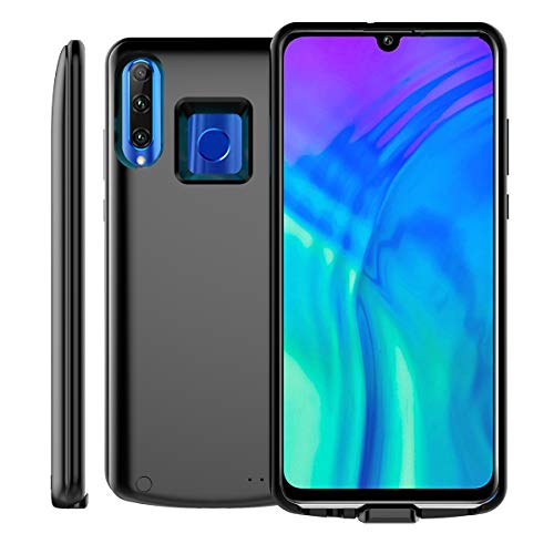 (Mpaltor Battery Case Compatible for Huawei Honor 10i Honor 20i,6500mAh Rechargeable Battery Pack External Charger Case for Huawei Honor 10i Honor 20i Protective Backup Cover Charger Case(Black))