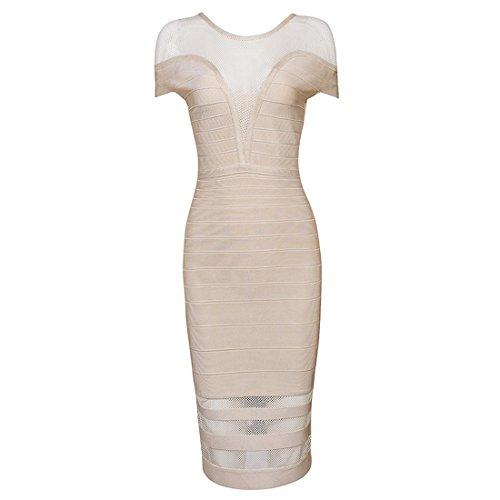 Pink HLBCBG Kleid Damen Rosa Rosa Beige q88vWPtng