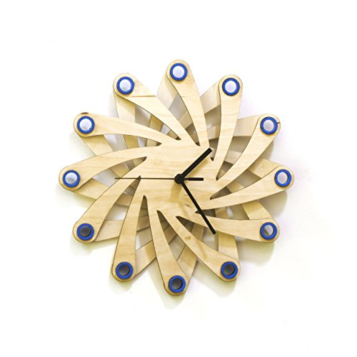 Galaxy blue - Contemporary Stylish Wall Clock Made of Bent...
