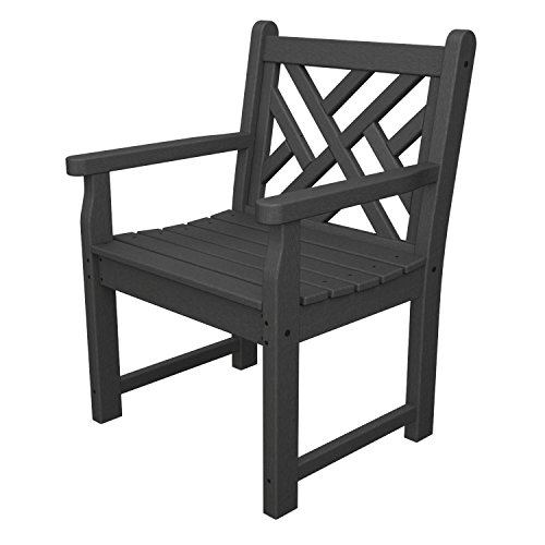 (Chippendale Garden Arm Chair Finish: Slate Grey)