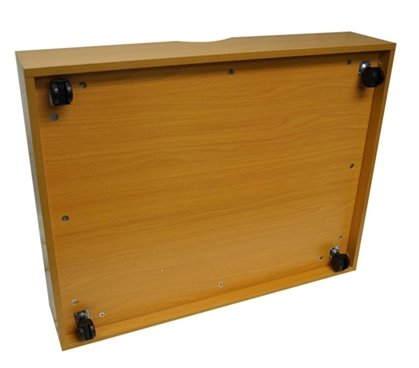 The Storage MAX - Underbed Wooden Organizer With Wheels - Beech by DormCo (Image #1)