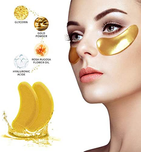 Under Eye Patches - Under Eye Mask for Dark Circles Collagen Eye Mask for Puffy Eyes Under Eye Bags Treatment Gold Eye Masks Skin Care Under Eye Pads