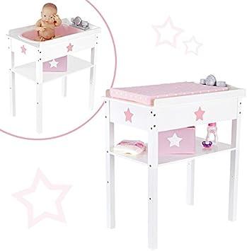 Bayer Chic 2000 Puppenwickeltisch Fiori Weiß Wickeltisch für Puppe Puppen
