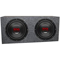 2) Boss CH10DVC 10 3000W Car Subwoofers Subs Woofers 4 Ohm+Sealed Box Enclosure