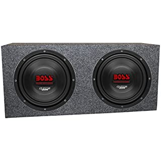 2) Boss CH10DVC 10' 3000W Car Subwoofers Subs Woofers 4 Ohm+Sealed Box Enclosure