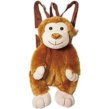"Calplush 14"" Cute Fluffy Animal Backpack Pals Monkey Plush"