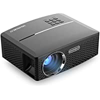 VisualGreat GP80 Projector, Portable Size 2017 Top Game Video Entertainment, Led 1800 Lumens for Home Theater 1080P Read via Double HDMI & USB to Achieve Your Movie at Your Family Party