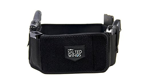 Left Handed Gun Holsters (Salted Winds Ambidextrous Belly Band Holster - Concealed Carry - One or Two Guns - Right and Left Handed - Neoprene - For Men and Women - Most Pistols and Revolvers - Full Size, Compact, Subcompact)