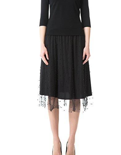 Emma Fischer Womens Waistband Scallop Beaded Lace Knee Pencil Skirts (Beaded Crochet Skirt)