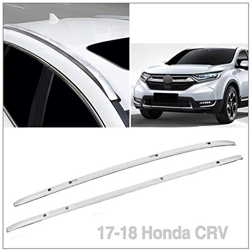 2pcs Mount onto The Rooftop Black Aluminum Roof Rack Top Side Rails Carries Luggage Carrier Fit 2017-2018 Honda CRV