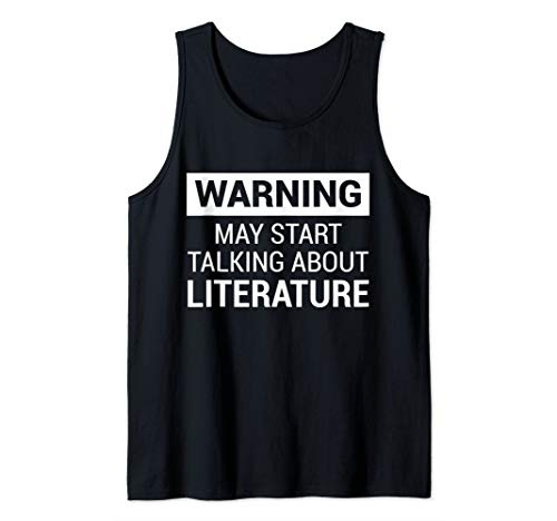 Funny Writers, Poets, Authors, Literature Fans White Font Tank Top