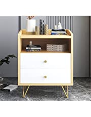 ViscoLogic Annie Mid-Century Night Table, Bed Side Table, Side Table, Nightstand with Two Storage Drawers (Wood Grain)�