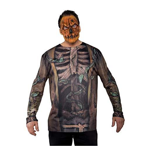 Underwraps Men's Scarecrow Mask, Orange, One Size (Mask Latex Scarecrow)
