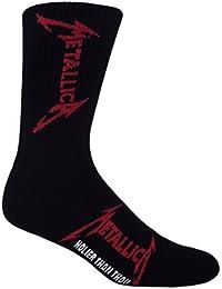Black, White, Red Metallica Holier Than Thou Crew Socks