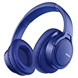 Mpow H7 Bluetooth Headphones Over-Ear, 25h Playtime, CVC 6.0, Wireless Headphones with Hi-Fi Stereo and Mic, Comfortable Memory-Protein, Wireless and Wired Mode for Cellphone/Tablet-Blue