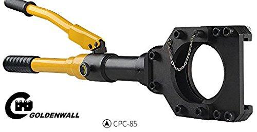 CGOLDENWALL Φ85mm油圧式ケーブルカッター 手動ワイヤカッター    銅アルミケーブル、外装ケーブル等の切断に一年安心保証付き B07BYML9R7