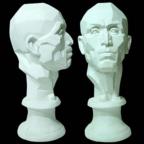 Plaster Cast 21-Inch Perspective Head by Masters International