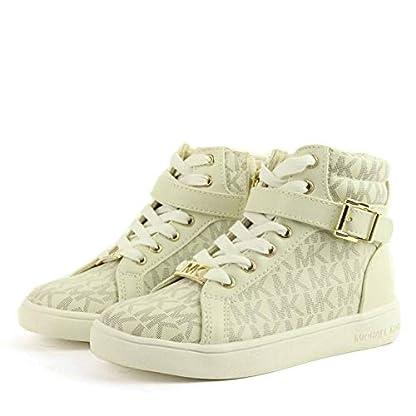 Michael Kors Zia Ivy Abigail Vanilla Juniors High Tops Ankle Boots (13.5 UK) 2