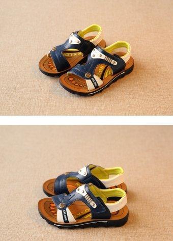Sandaletten flach Halbschuhe Kleinkinder Sandalette Freizeit Ohmais Sandalen Jungen Kinder Blau xqwBSUTXAf