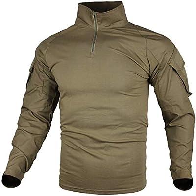 zuoxiangru Camiseta de Combate táctica para Hombres, Camisa Multicam Transpirable Ripstop para Caza Militar Airsoft: Amazon.es: Deportes y aire libre