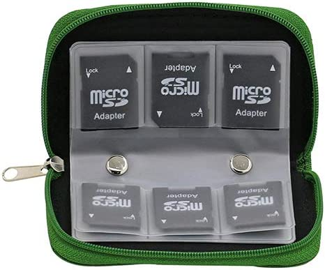 Telefonkarten-Aufbewahrung Speicherkartenhalter Rei/ßverschluss dragonaur Professionelle SD-Kartenh/ülle Geldb/örse Tragetasche f/ür SD SDHC MMC CF Micro SD Speicherkarte violett
