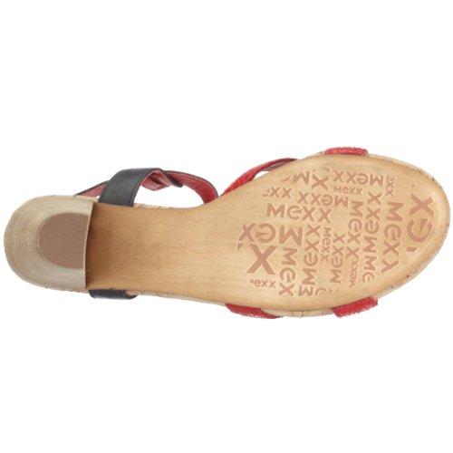 Mexx JANE 126235, Damen Sandalen/Fashion-Sandalen Rot (Coral12)