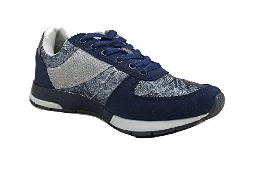 Pierre Donna Scarpe C627 Cardin Casual Tessuto in Woman Sneakers Blu 6SHSnP