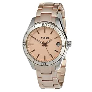 Fossil Women's ES3045 Pink Stainless Steel Watch