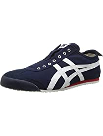 Onitsuka Tiger Mexico 66 Slip-On Classic Running Shoe, Navy/Off White, 12 M US
