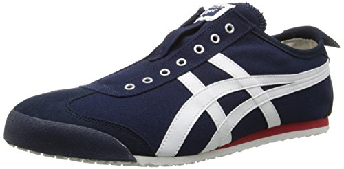 Onitsuka Tiger Mexico 66 Slip-On Classic Running Shoe, Navy/Off White, 13 M US