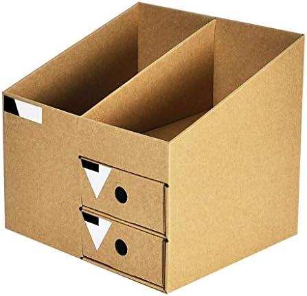 NMBD Bürozubehör Kraft Papier Desktop-Schublade Datei-Halter Office Information Datei Regal Finishing Box HUYP