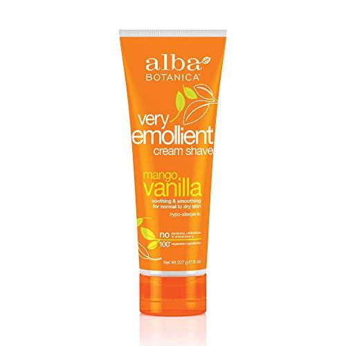 - Alba Botanica Very Emollient Mango Vanilla Shave Cream, 8 oz.