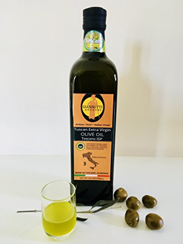 (Giannetti Artisans 2018 Harvest IGP Certified Italian Extra Virgin Olive Oil, Imported from Tuscany, Italy 25.4 Oz (1 Bottle))