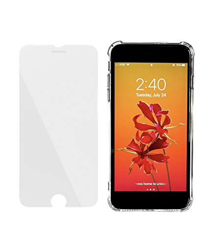 iPhone 8plus iPhone 7plus Phone Case Protective Shockproof Tempered Glass Thin Thinner Slim Clear Accessories Cover armor TPU Soft Case Bumper Shock Basic Screen Protection