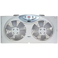 Bionaire BW2300 Twin Reversible Airflow Window Fan with Remote Control