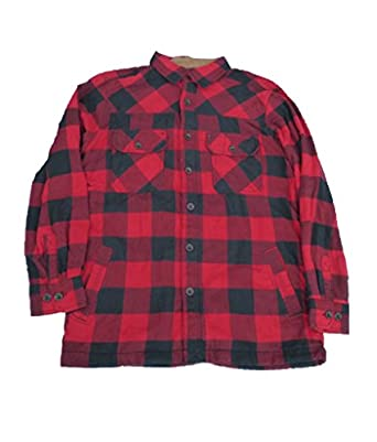 Northwest Territory Men's Quilted Flannel Shirt Jacket - Red ...