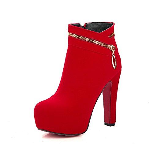 BalaMasaAbl09675 - Sandali con Zeppa donna, Rosso (Red), 35 EU