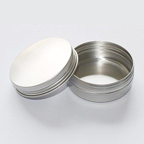 X-Haibei 2 Empty Tin Case for Lotion Bar Soap Hair Wax Skin Moisturizers Aluminum (Best Hair Removal Cream For Legs 2014)