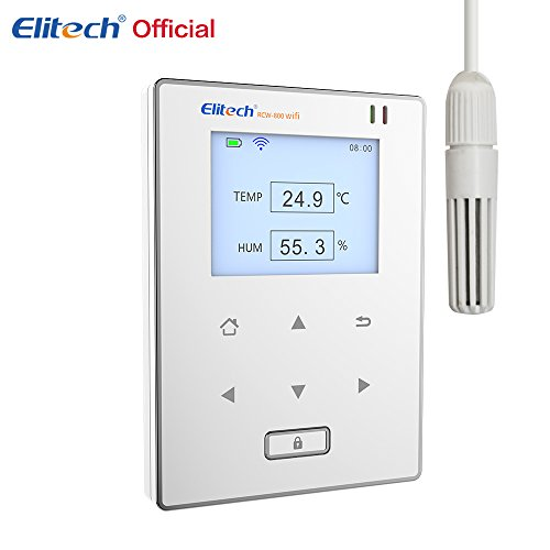 Elitech Wifi Temperature and Humidity Data Logger Intelligent Remote Monitor RCW-800 wifi