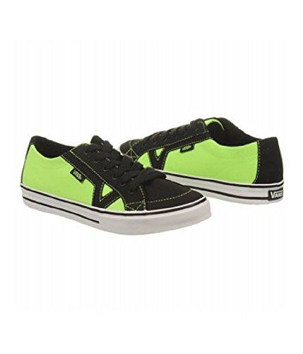 Vans Womens Tory Neon Canvas Skate Sneakers neonblackgreen 11