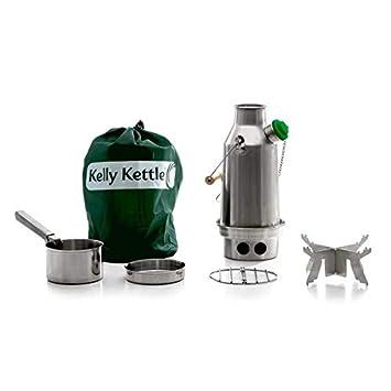 Kelly Kettle - Equipo básico de acampada para hervir agua (acero y ...