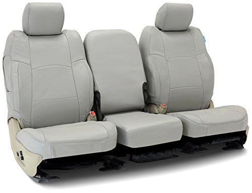 Coverking Rear 60/40 Split Bench Custom Fit Seat Cover for Select Toyota FJ Cruiser Models - Genuine Leather (Gray)