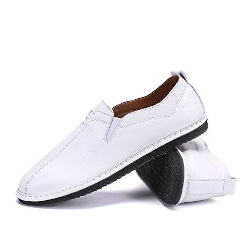 On Oxford Soft Color Bianca 42 casual Slip piatto Bianca Scarpe Shoes Ofgcfbvxd uomo Leather EU Dimensione A Lofer Traspirante Pedale da XwY51Y4q