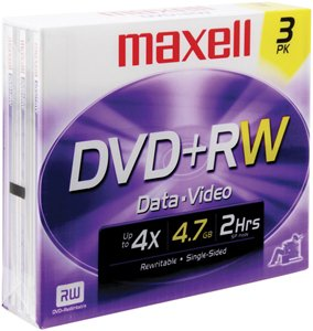 Maxell 4.7 DVD+RW (3-Pack) by Maxell