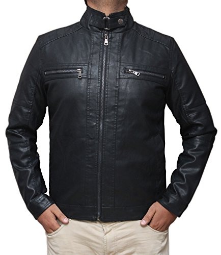Cheap Leather Motorcycle Jackets For Men - 9