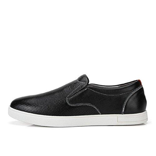 Kameel Heren Instappers Lederen Loafer Vrijetijdsschoenen Casual Schoen Zwart