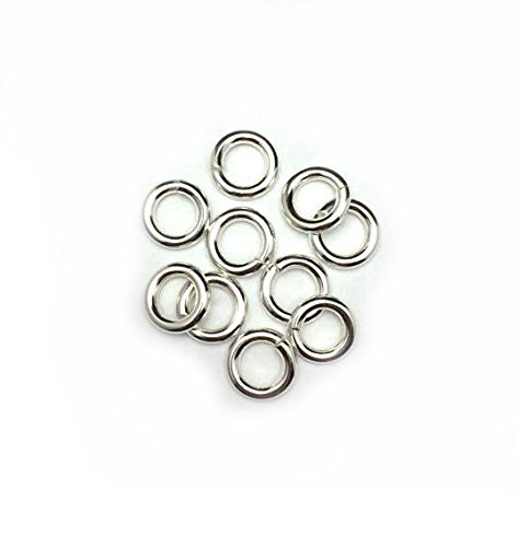 Amazon Com 10 Sterling Silver Round Open Jump Rings 10 1mm 12 Gauge