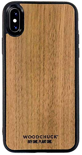 Woodchuck Real Wood Case for iPhone X/XS - Three Premium Wood Options (Cedar, Mahogany, or Walnut) - Protect Screen and Edges - Unique Grain for Each Case - Made in USA